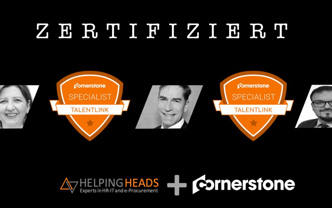 Helping Heads GmbH TalentLink Cornerstone Zertifizierung
