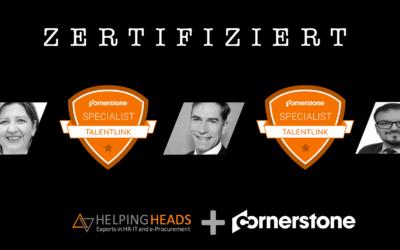 Helping Heads Mitarbeiter erhalten TalentLink-Zertifizierung